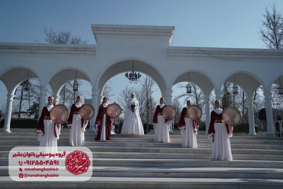 دف نوازی بانوان در مجالس عروسی